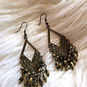 Tiger eye bohemian earrings